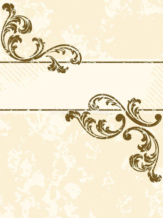Bandeira suja do sepia do vintage, vertical ilustração royalty free