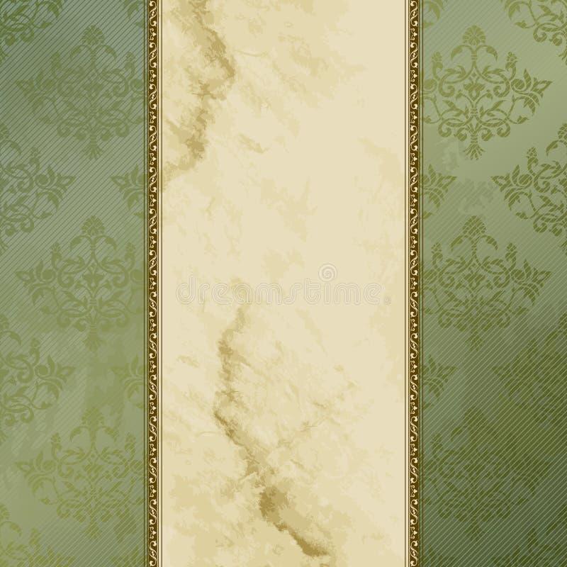 Bandeira suja do vintage do Victorian ilustração do vetor