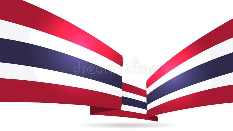 Bandeira tailandesa do fundo abstrato fotos de stock