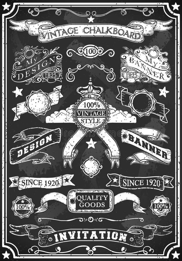 Bandeira tirada mão do quadro-negro ilustração royalty free