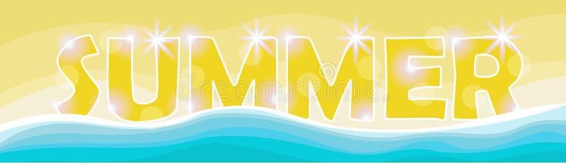 Bandeira tropical do feriado da areia ajustada das férias da praia do verão ilustração stock