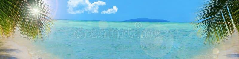 Bandeira tropical do fundo da praia fotografia de stock royalty free