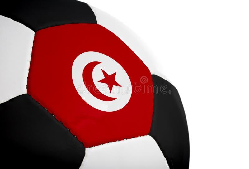 Bandeira tunisina - futebol imagem de stock