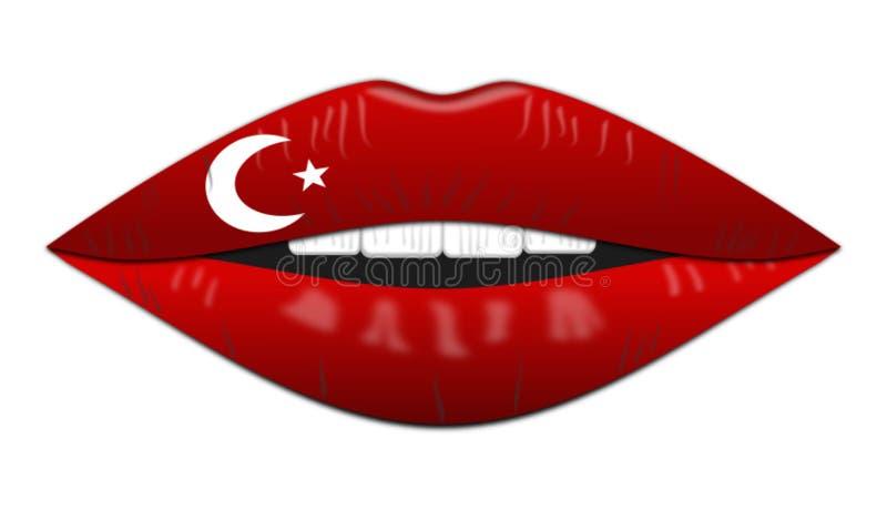 Bandeira turca, ícone, sinal, a melhor ilustração 3D ilustração do vetor