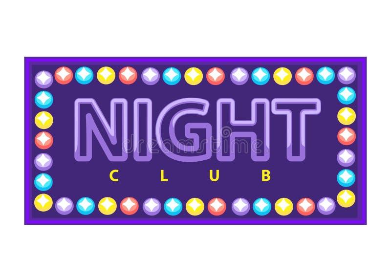 Bandeira vívida do clube noturno ilustração do vetor
