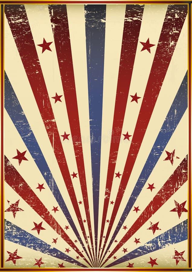 Bandeira velha de Grunge ilustração royalty free