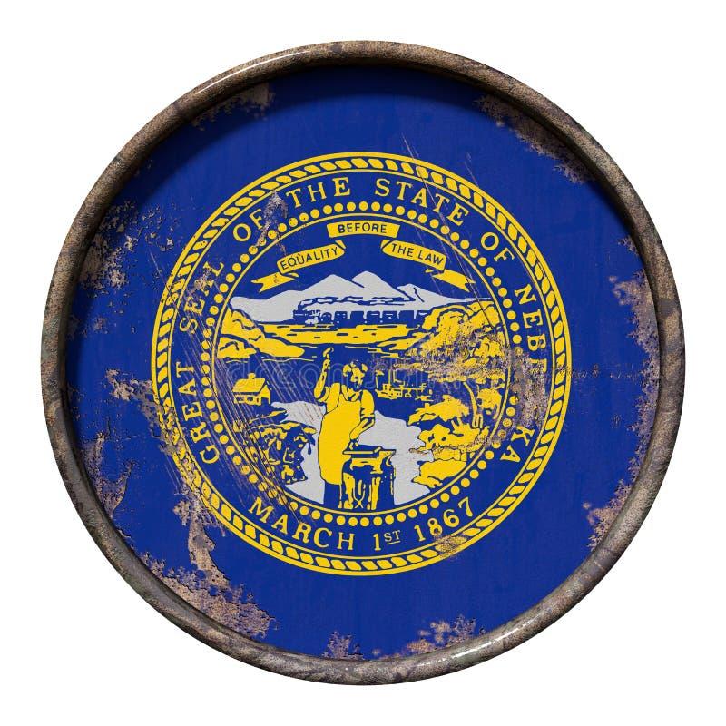 Bandeira velha de Nebraska ilustração do vetor