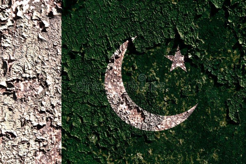 Bandeira velha do fundo de Paquistão do grunge ilustração do vetor
