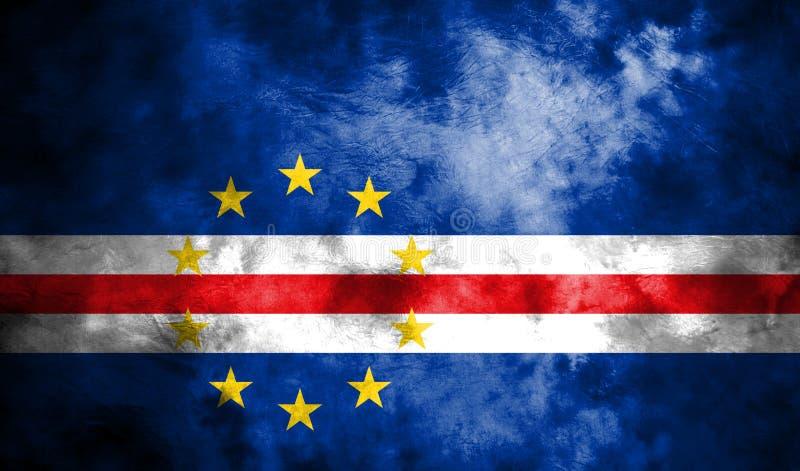 Bandeira velha do fundo do grunge de Cabo Verde ilustração royalty free