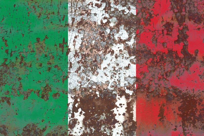 Bandeira velha do fundo do grunge de Itália imagens de stock