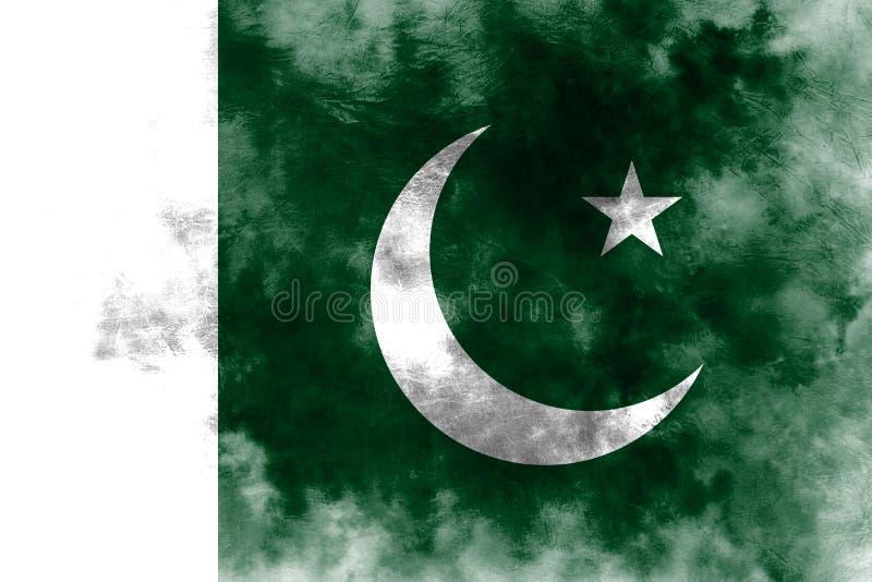 Bandeira velha do fundo do grunge de Paquistão ilustração stock