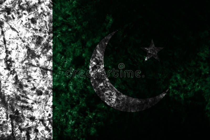 Bandeira velha do grunge de Paquistão, bandeira de Paquistão ilustração stock