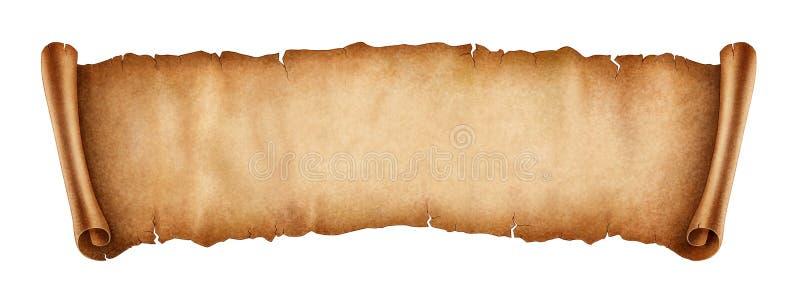 Bandeira velha do rolo isolada no fundo branco ilustração royalty free