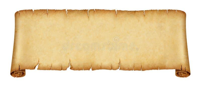 Bandeira velha do rolo isolada no fundo branco ilustração stock