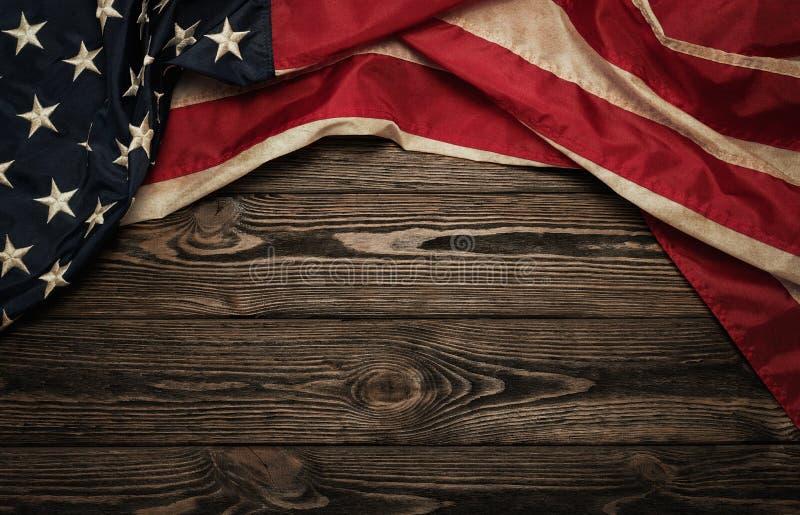Bandeira velha dos EUA fotos de stock