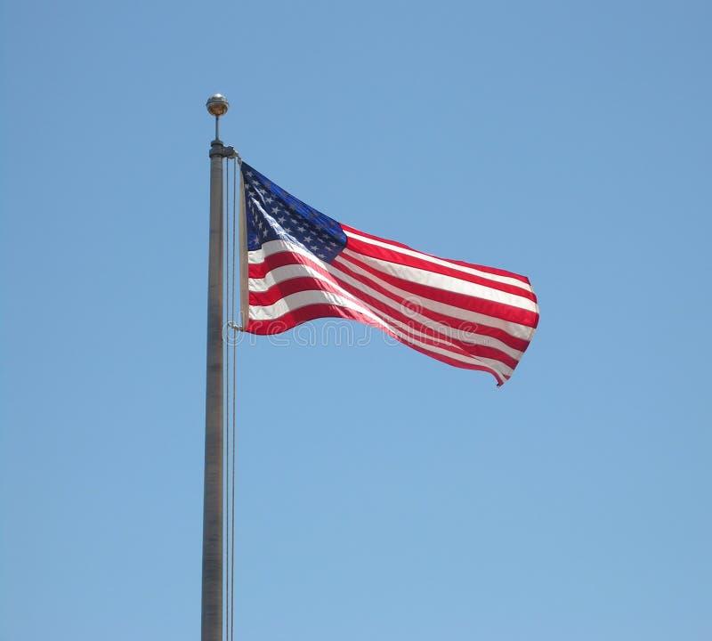 Bandeira velha grande fotografia de stock