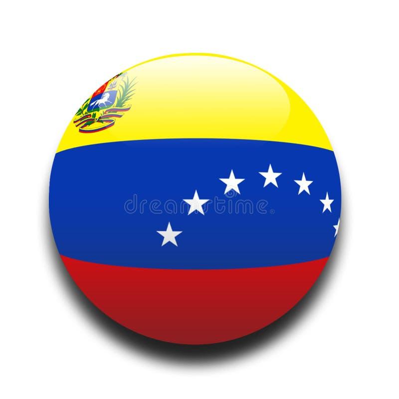 Bandeira venezuelana ilustração royalty free