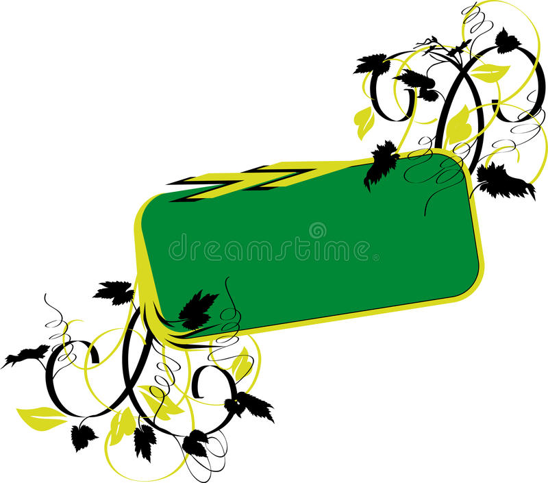 Bandeira verde foto de stock