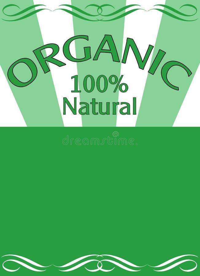 Bandeira verde do alimento biológico ilustração do vetor