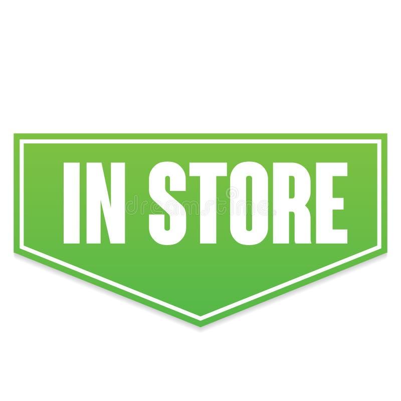 Bandeira verde do vetor na loja imagem de stock