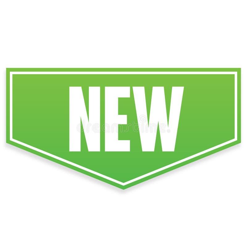 Bandeira verde do vetor nova foto de stock