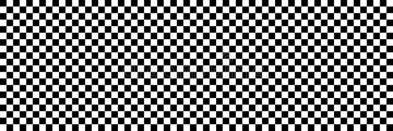 bandeira verificada preto e branco horizontal do esporte ou da competência para a parte traseira ilustração stock