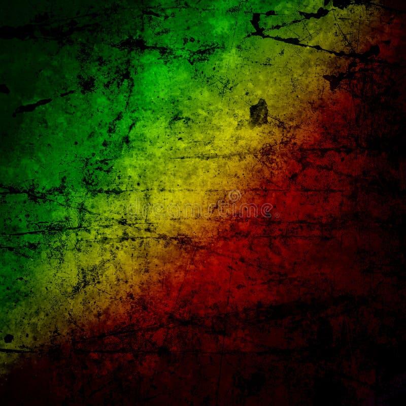 Bandeira vermelha, amarela, verde do rasta ilustração stock