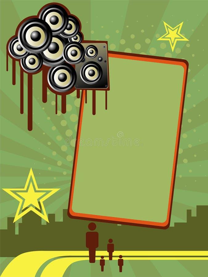 Bandeira vertical do partido ilustração royalty free