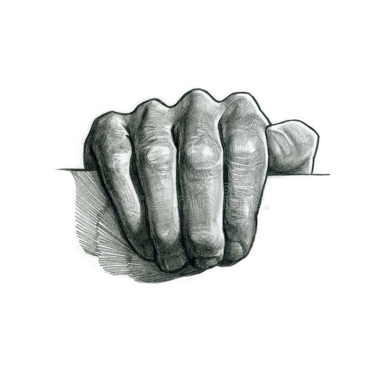 Bandeira virtual da posse da mão ilustração royalty free