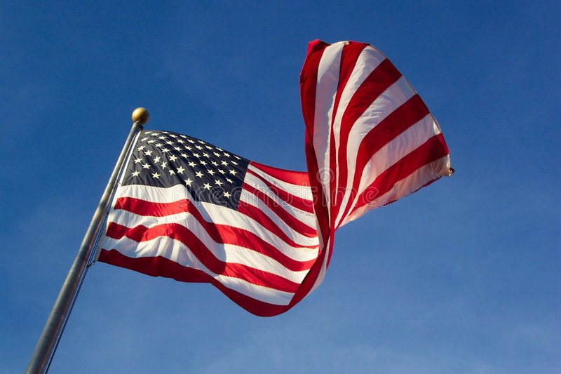 Bandeira Windblown fotos de stock royalty free