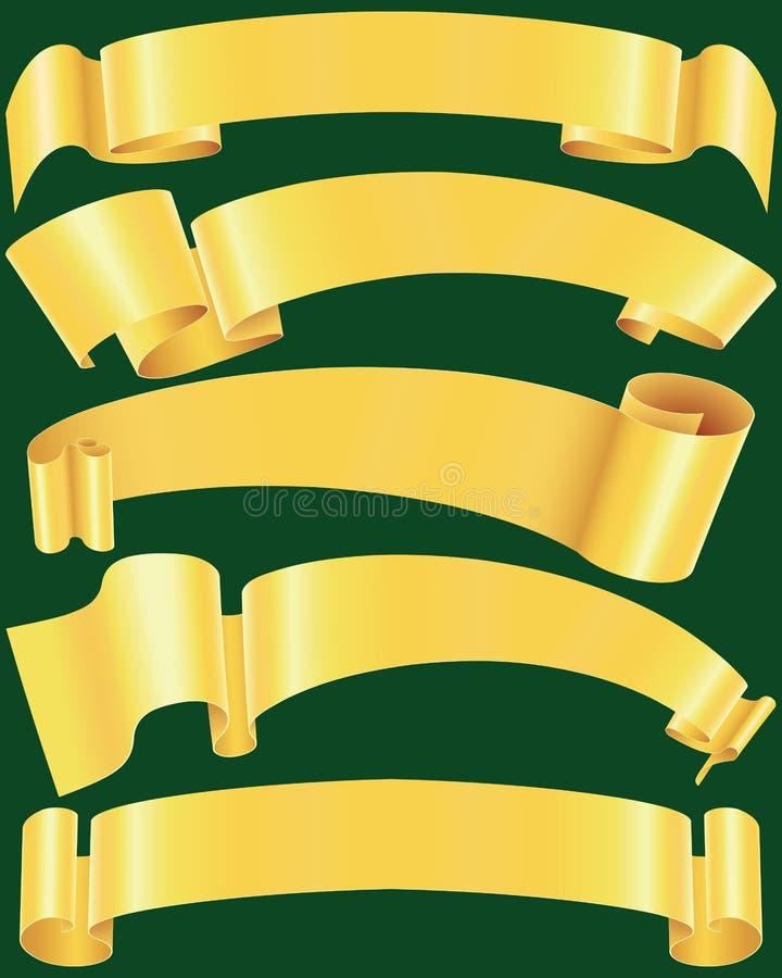 Bandeiras ásperas do ouro ilustração royalty free