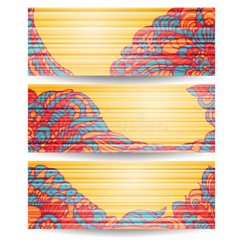 Bandeiras ilustração stock
