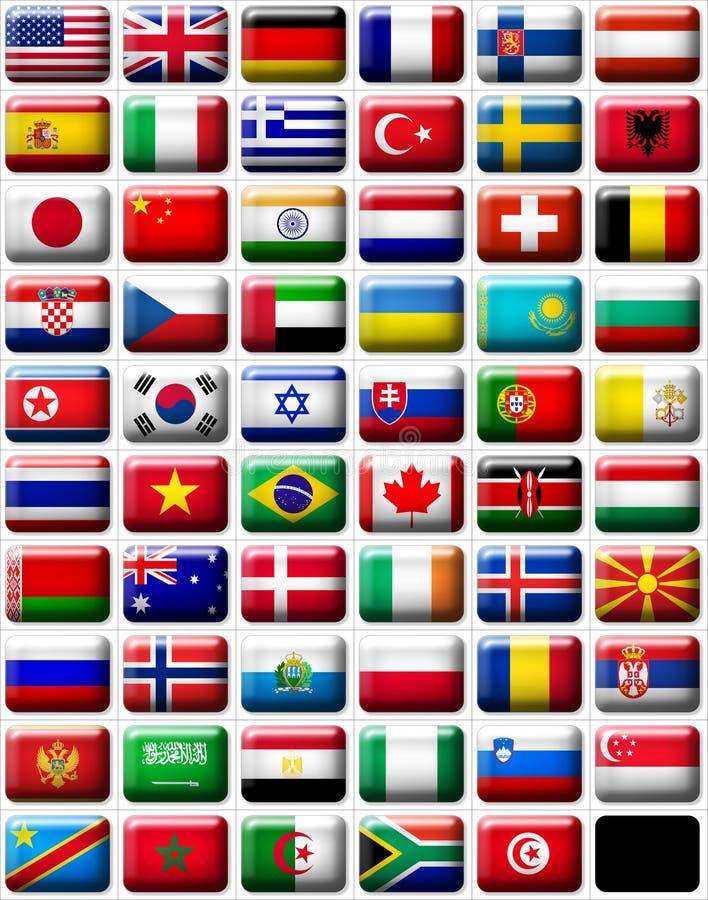 Bandeiras ilustração royalty free