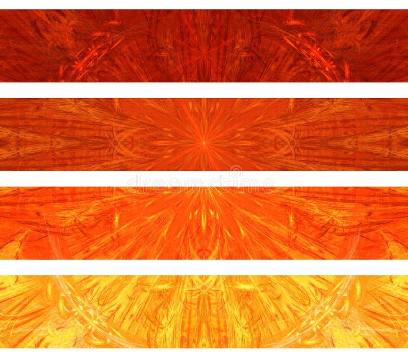 Bandeiras abstratas ilustração stock