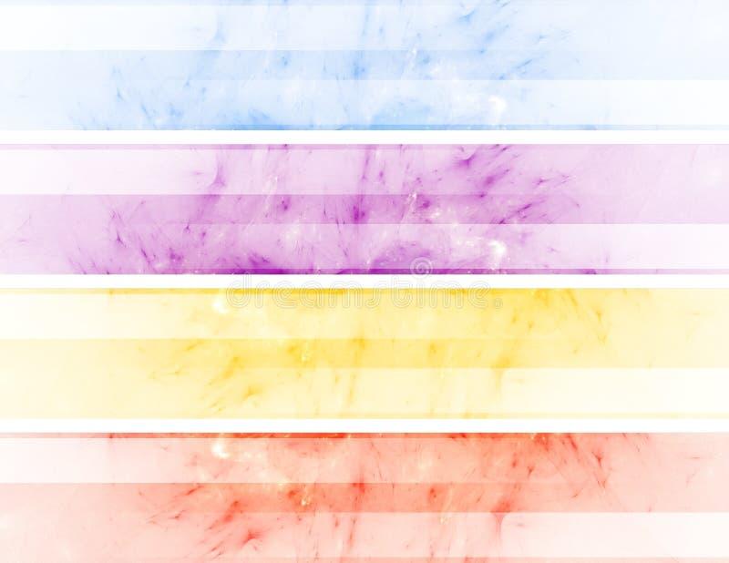 Bandeiras abstratas ilustração do vetor