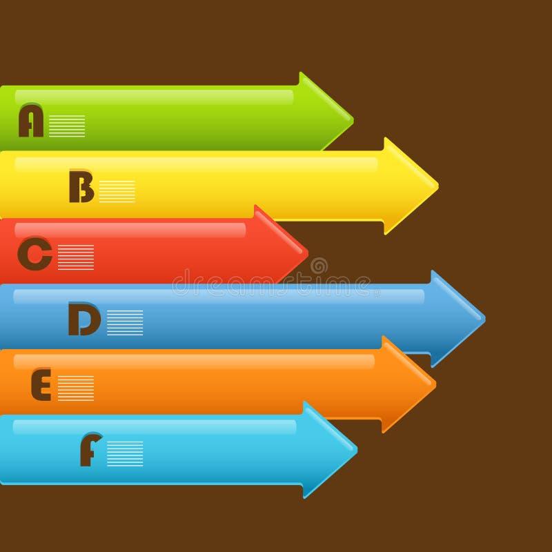 Bandeiras abstratas da seta da informação ilustração do vetor
