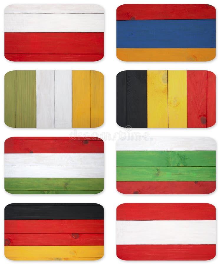 Bandeiras abstratas de países diferentes imagem de stock royalty free