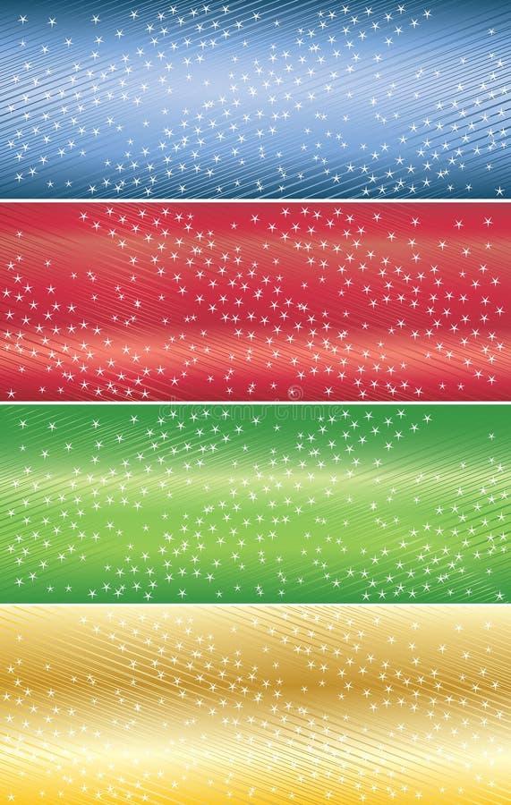 Bandeiras abstratas do vetor com estrela ilustração stock