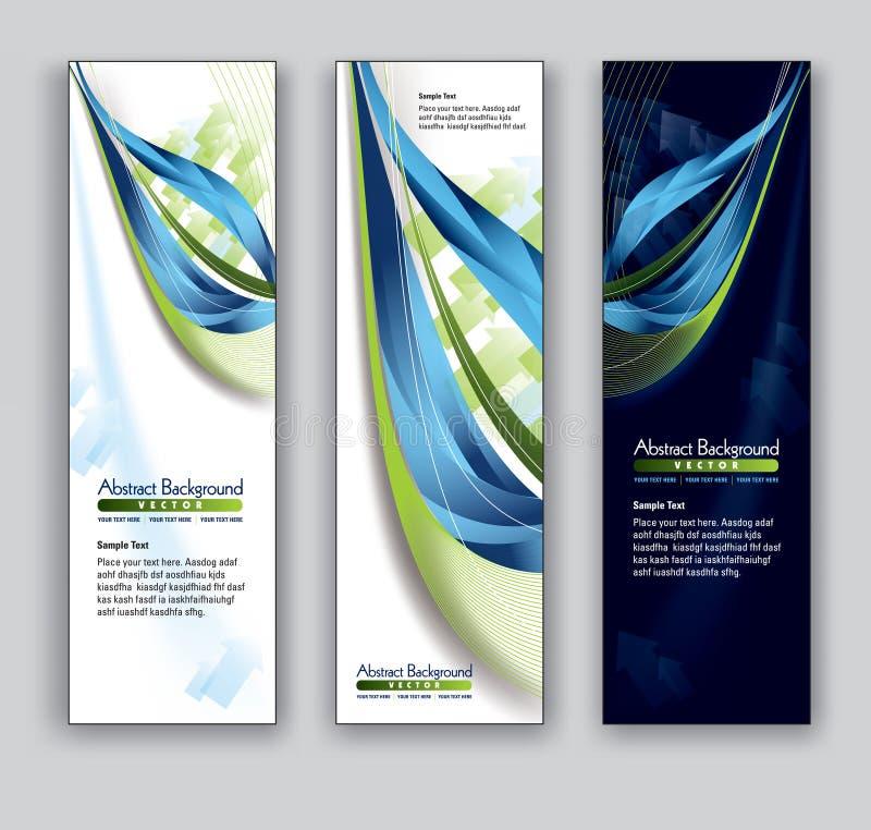 Bandeiras abstratas. Fundos do vetor Eps10. ilustração royalty free
