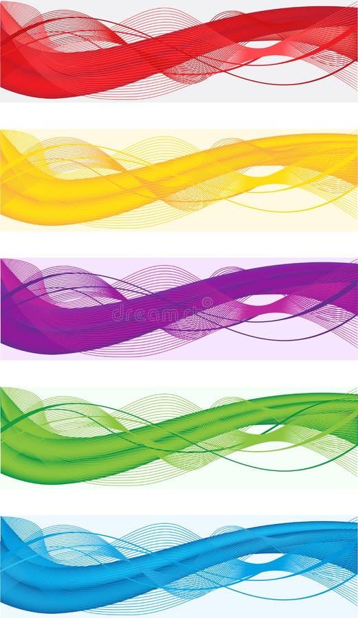 Bandeiras abstratas para o encabeçamento da Web ilustração do vetor