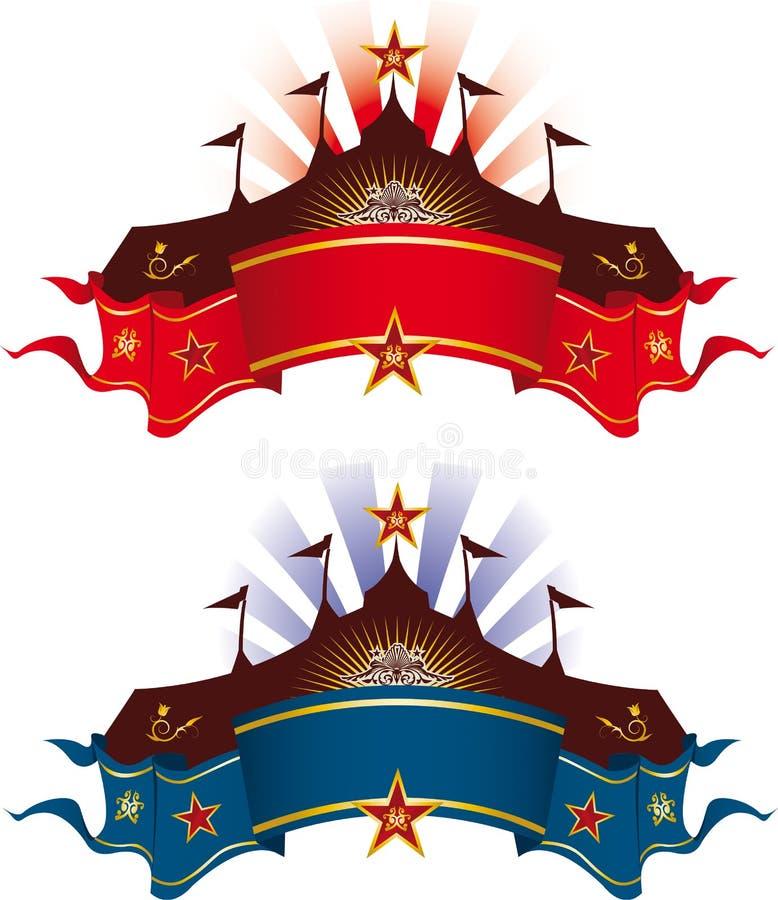 Bandeiras agradáveis superiores ilustração stock