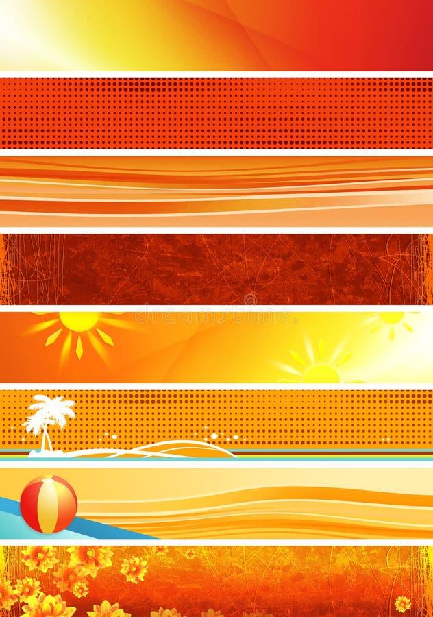 Bandeiras alaranjadas amarelas ilustração royalty free