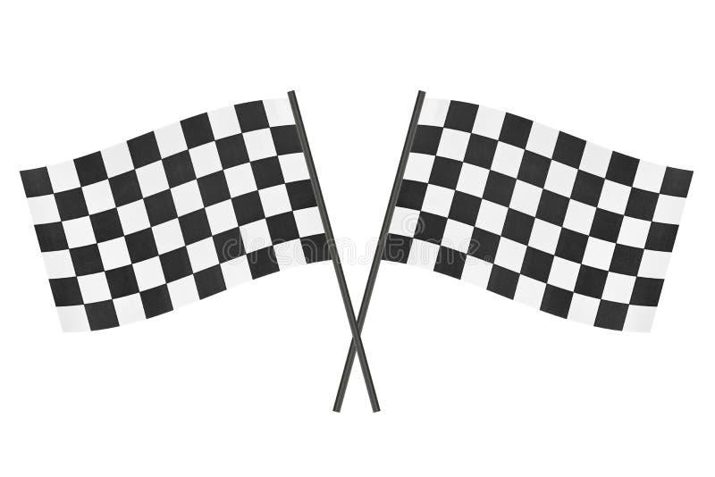 Bandeiras Checkered imagem de stock royalty free