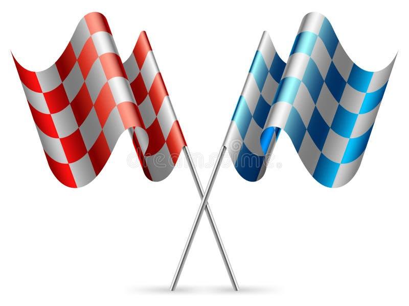 Bandeiras Checkered. ilustração stock