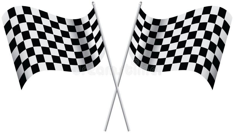 Bandeiras Checkered ilustração do vetor