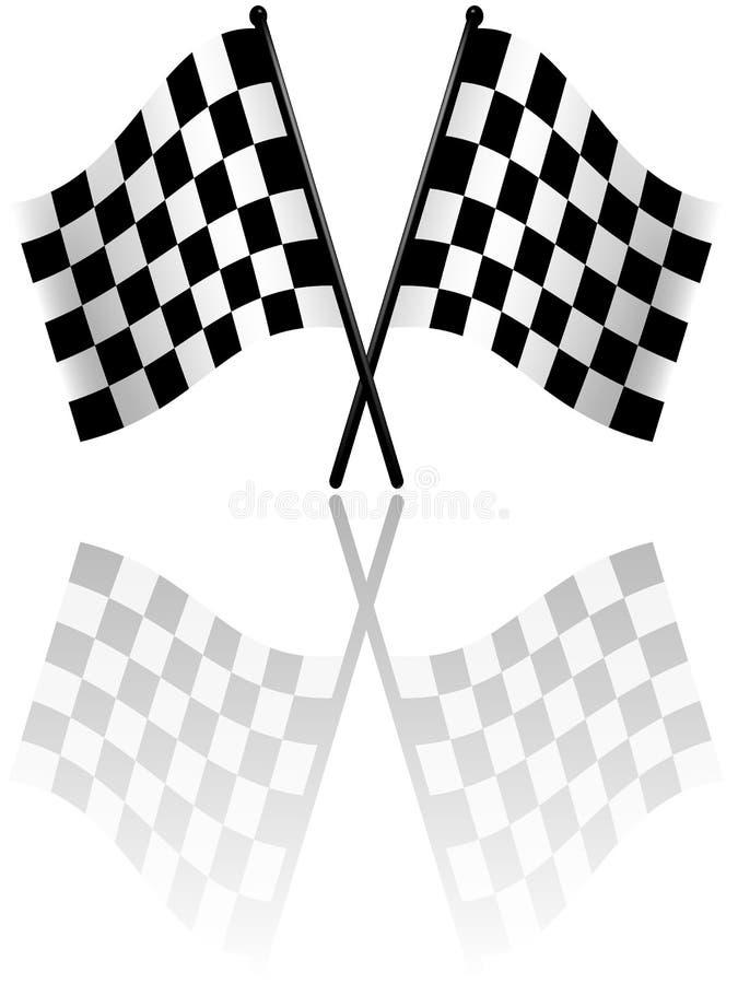 Bandeiras Checkered ilustração stock
