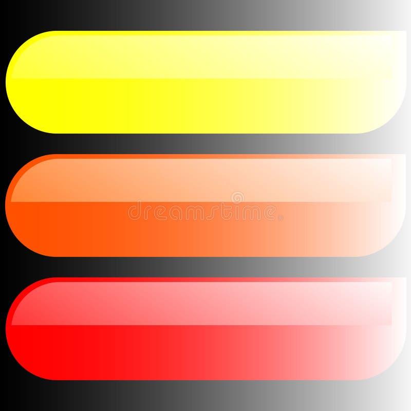 Download Bandeiras coloridas ilustração do vetor. Ilustração de alaranjado - 10055378