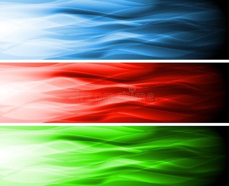 Bandeiras coloridas ilustração do vetor