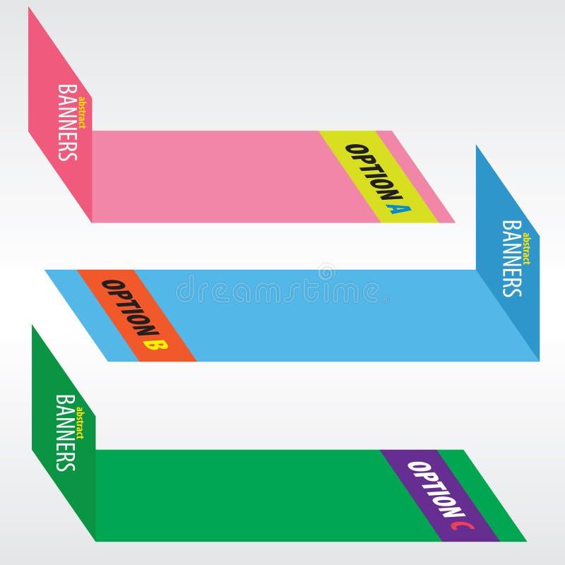 Bandeiras coloridas. ilustração do vetor