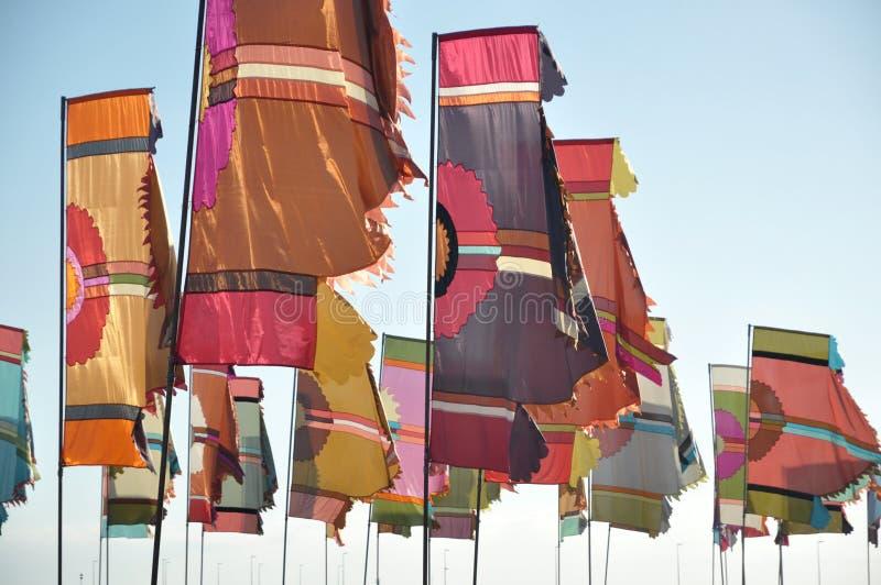 Bandeiras coloridas fotografia de stock